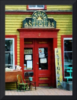 Antique Shop With Two Chairs