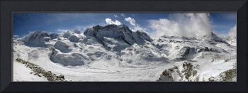 Panoramic view of the Gorner glacier