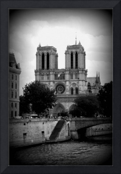 Timeless Notre Dame - Black and White