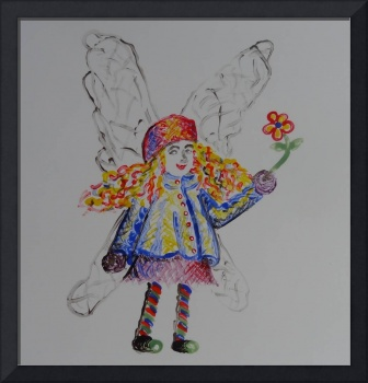 fairy in blue and yellow jacket