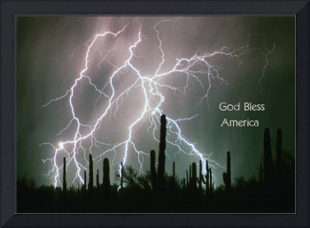 God Bless America Color Lightning Storm in the USA