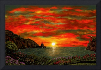 Red Sunset by Ave Hurley