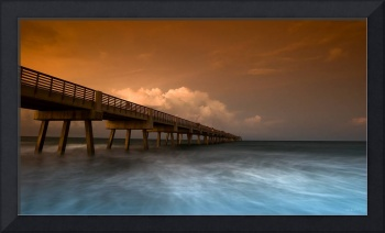 High Tide and Pier
