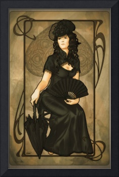 Vintage art: Queen of Spades