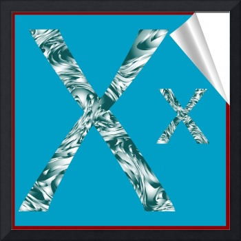 alphabet letter X sticker