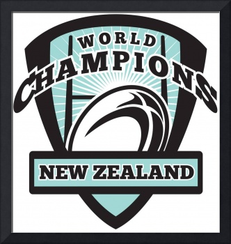 Rugby ball New Zealand World Champions