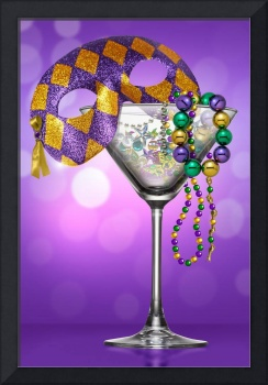 MARDI GRAS MARTINI BACKGROUND