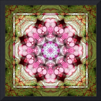 Pink and Green Kaleidoscope