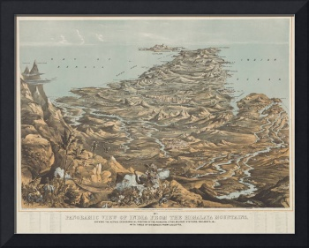 Vintage Pictorial Map of India from Himalayas (185