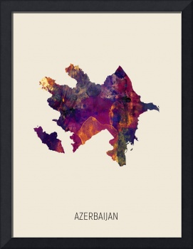 Azerbaijan Watercolor Map