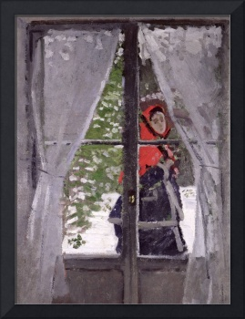 The Red Kerchief, Portrait of Mrs. Monet, 1873 (oi