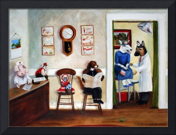 The Veterinary Clinic- Animal Painting by SM Viola