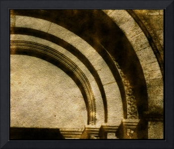 outside arches vezelay basilica france