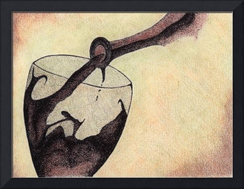 Wine Glass In Action. Fine art by Doug Ashby.
