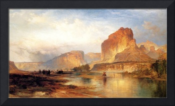 Cliffs on the Green River (1874) by Thomas Moran