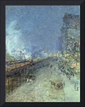 The El, New York by Childe Hassam
