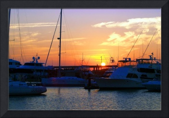Charleston Marina Sunset Sept 22, 2010