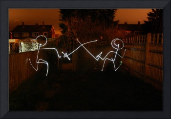 Sword Play in light graffiti