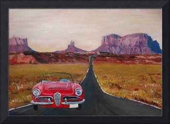 Monument Valley Road Trip with Oldtimer Convertibl