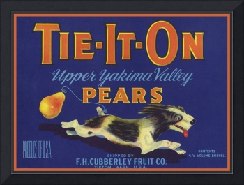 Tie It On TIETON Dog Pear Label