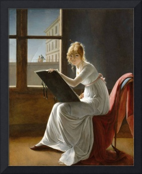 Marie-Denise Villers~Young Woman Drawing