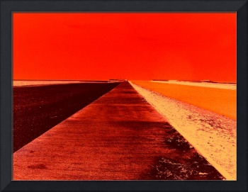 Sea Wall Vanishing Point (Red)