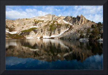 Clouds and Peaks Reflect in Overland Lake, Nevada