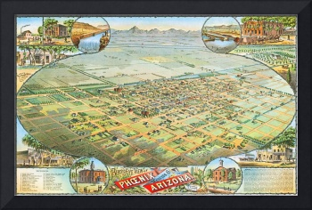 Phoenix Arizona Panoramic Map