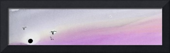 Panoramic Watercolor abstract clouds 4