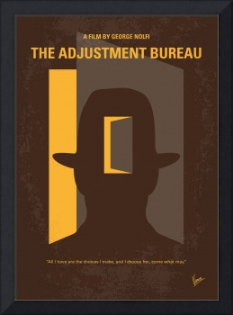 No710 My The Adjustment Bureau minimal movie poste