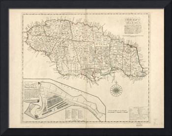 Vintage Map of Jamaica (1771) 2