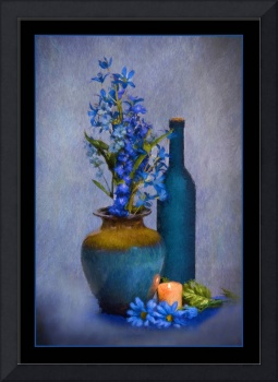 7732PS Blue Glory Still Life Painting