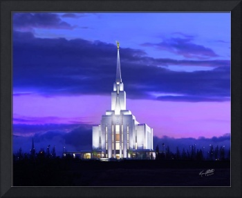 Oquirrh Mountain Temple Sunset