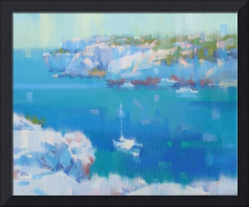 Cala Lombards IV - oil - canvas