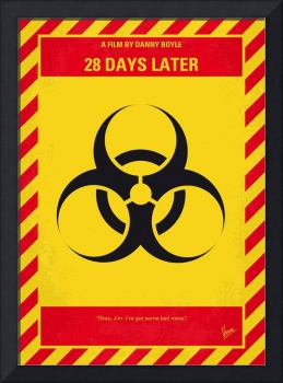 No1029 My 28 Days Later minimal movie poster