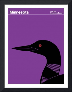 State Posters - Minnesota State Bird: Common Loon