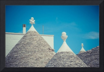 Close up of a conical roofs of a Trulli houses-1