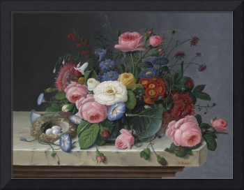 Still Life with Flowers and Bird's Nest