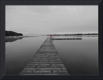 Muckross Jetty Red Color Isolation