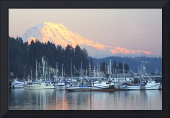 Gig Harbor & Mt Rainier at Sunset