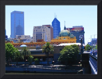 Flinders Street station and downtown Melbourne