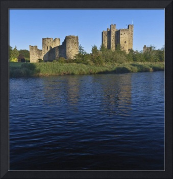 Trim Castle on the River Boyne in a spring dawn