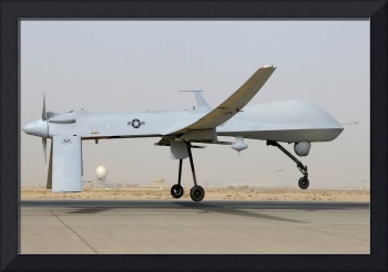 An MQ-1 Predator prepares for takeoff
