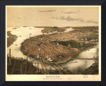 Bird's Eye View of Boston, Massachusetts (1877)