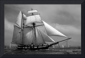 La Recouvrance sail Brest France by Bill McAllen