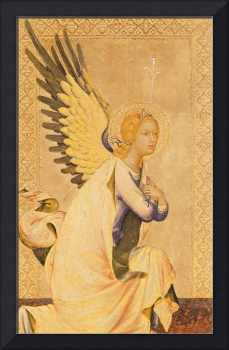 Angel Gabriel (tempera and gold leaf on panel)