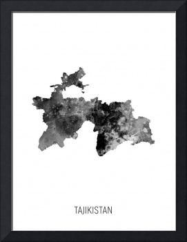 Tajikistan Watercolor Map