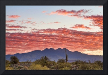 Arizona Four Peaks Mountain Colorful View