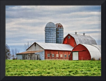 Vermont Barn in Oil
