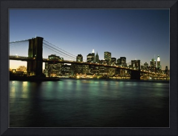 Looking Across The East River And The Brooklyn Bri